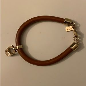 COACH Pave Leather Signature C Logo Bracelet